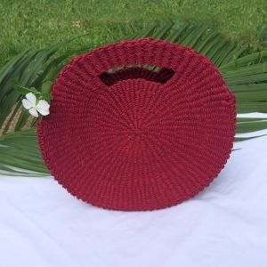 Circolare Fierce Red Abaca Bag