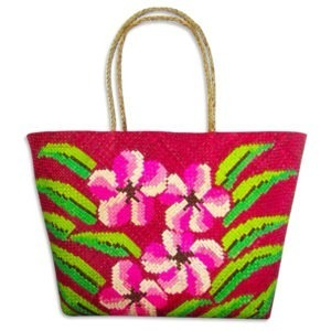 Hibiscus Flowers Abaca Bag