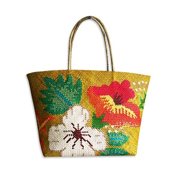 Leaves and Flowers Abaca Bag