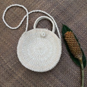 Lotus White Abaca Bag