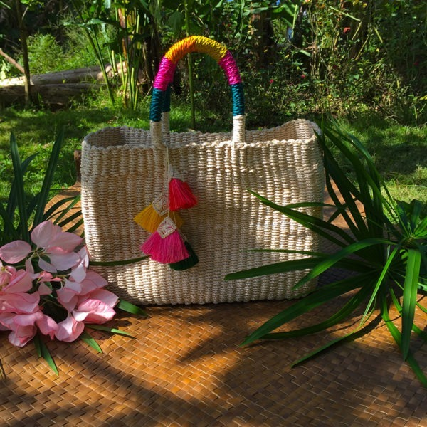 Fiore Abaca Bag with Tassel